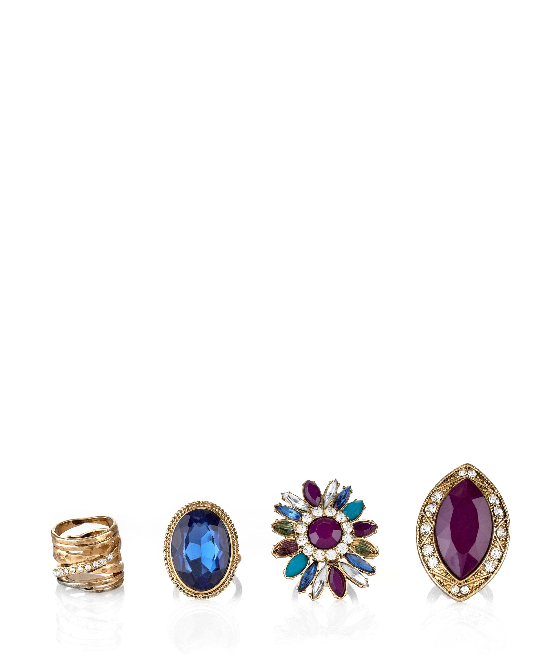Purple Jewelled Ring Pack _9.99
